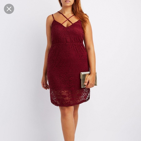 ff60f55ad36e8 NWT Plus Size Burgundy Dress - Charlotte Russe